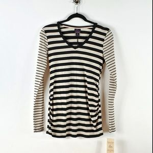 Oh Baby Striped Long Sleeve Maternity Shirt